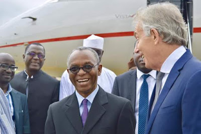 Photos: Former UK prime minister Tony Blair arrives Nigeria