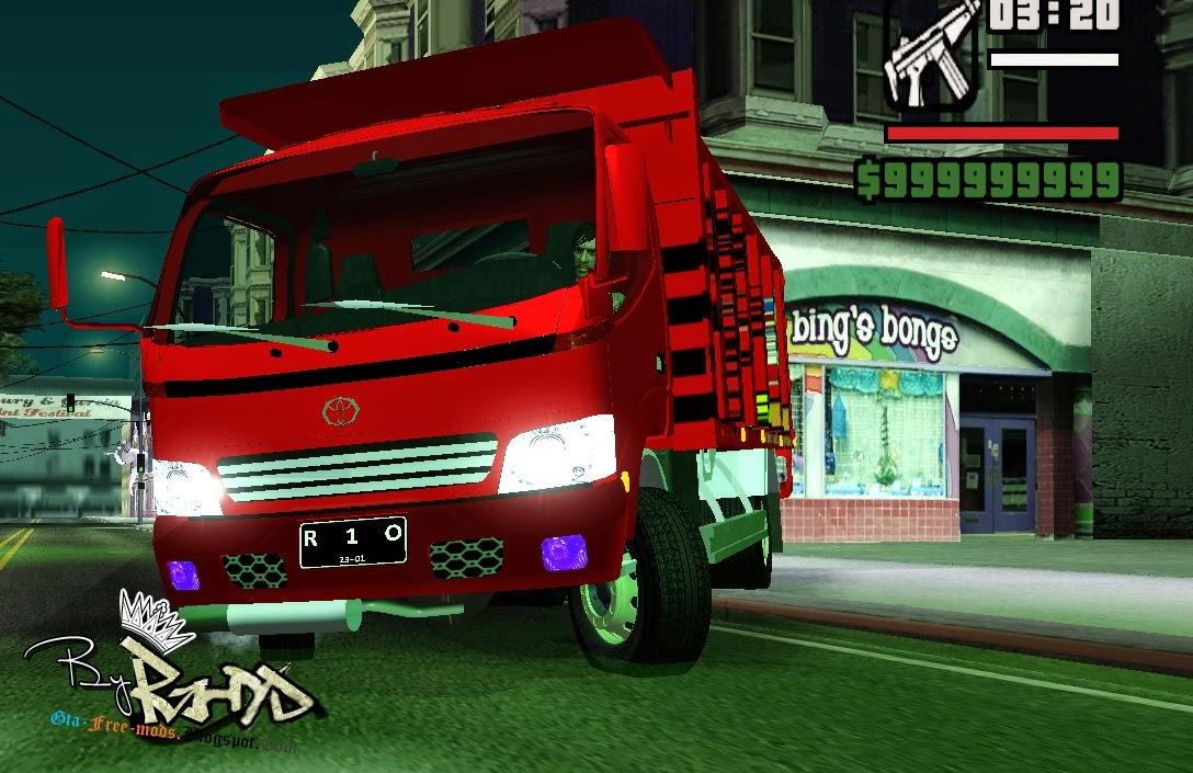Toyota Dyna Truck >> GTA SA - Toyota Dyna Truck Pasir | GTA Free Mods
