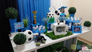 Decoração festa infantil Grêmio Porto Alegre