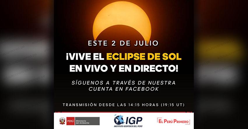 EN VIVO ECLIPSE PARCIAL DE SOL: El Instituto Geofísico del Perú hará una transmisión en vivo desde Arequipa - IGP - www.igp.gob.pe