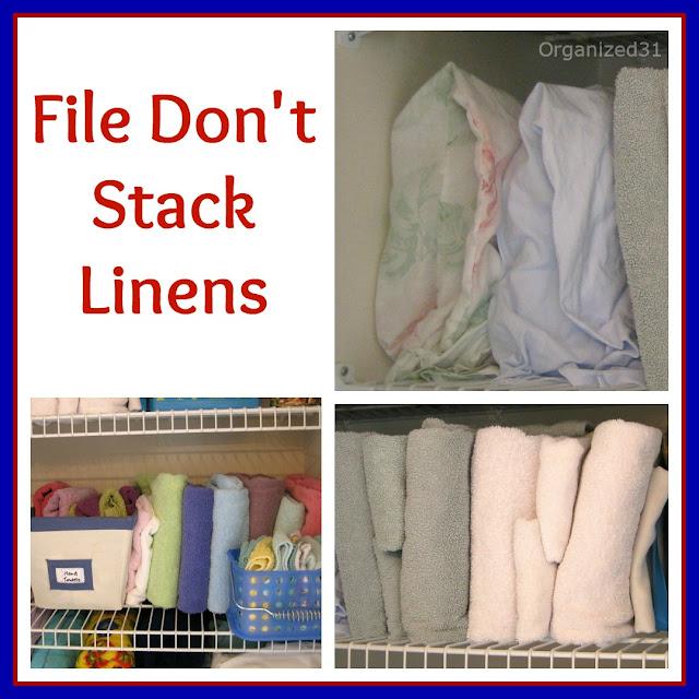 Organized 31- 3 Steps to an Organized Linen Closet