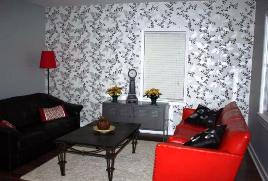 Gambar Wallpaper Dinding Hitam Putih Untuk Ruang Tamu Keren Minimalis