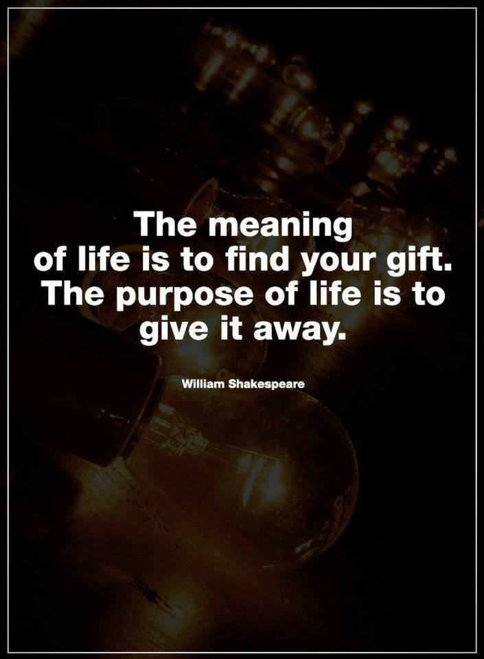 Life Quotes The Meaning Of Life Is To Find Your Gift Quotes