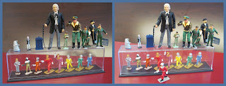 Toy Dan Dare Comic Characters From Eagle Comic and Eagle Annual on the Small Scale World Blog; smallscaleworld.blogspot.com. Dan Dare, Ensign Digby, Professor Jocelyn Peabody, Sir Hubert Guest, A Treen Ron Good's Good Soldiers Metal From Eaglewall Plastics Dorking, Kentoys (Kenway Cycle Shop), Paint Conversions of Metal And Plastic Figurines; Dr Who, GI Joe, Unicorn Models, Marx 54mm Air Force And Crescent Hollow-Cast Spacefleet, Toy Soldiers