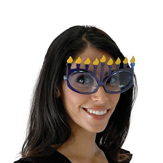 Hanukkah Menorah eye glasses are a fun add on gift or Hanukkah party favor.