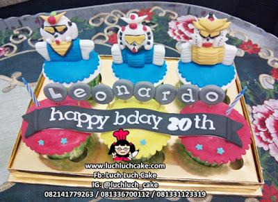 Cupcake Kartun Anime Gundam