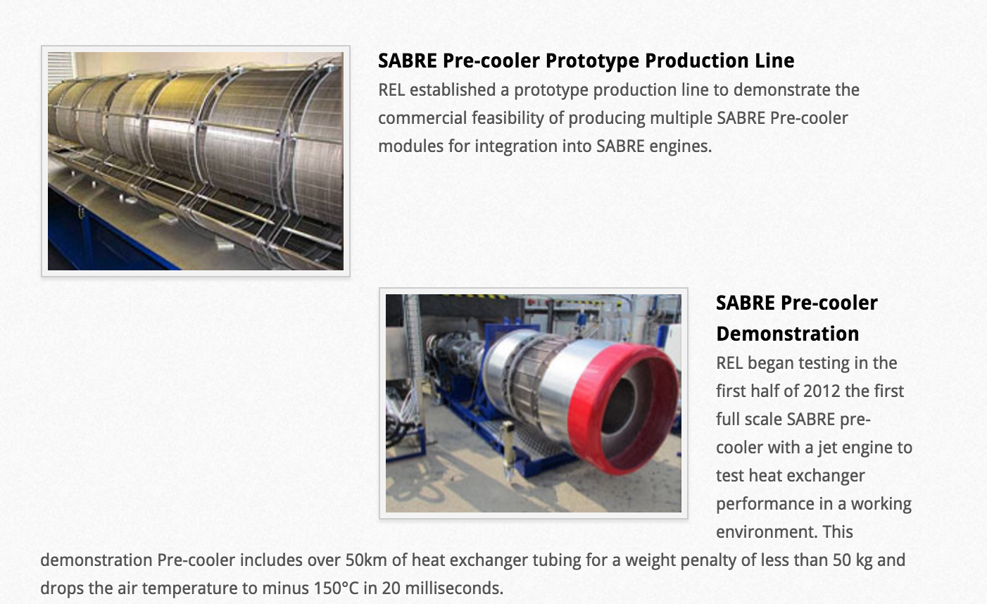 US Air Force Research will develop Skylon precooler heat exchanger suitable for flight for two