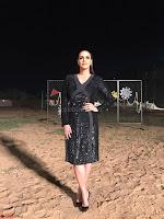 Neha Dhupia in Rohit Gandhi Rahul Khanna dress, Dior earrings (1) ~ .jpeg