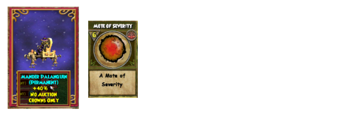 Wizard101 Bellosh drops, permanent pack mount, mote of severity drop