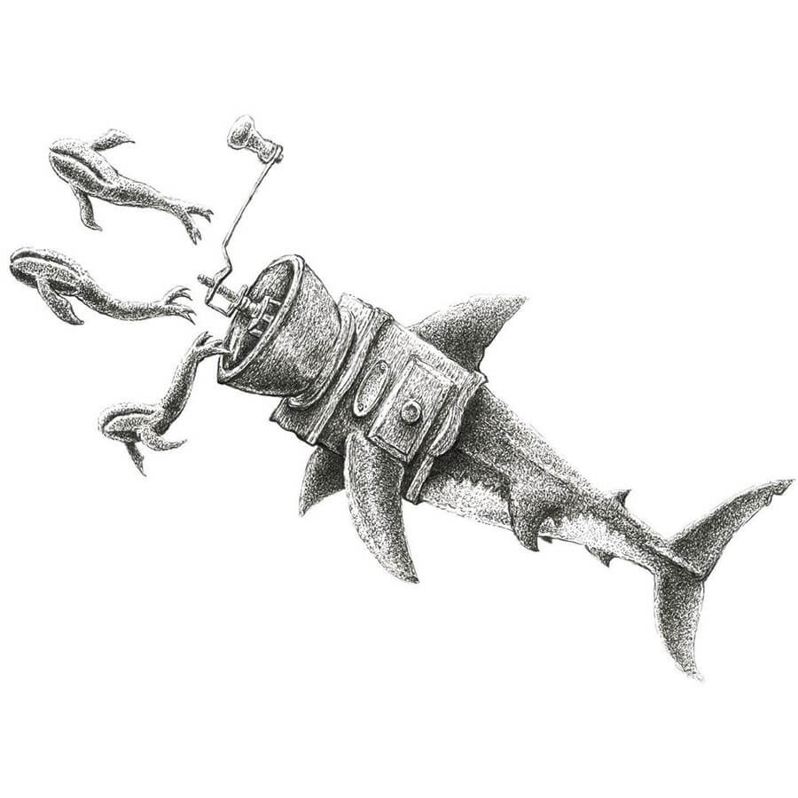 11-The-shark-the-mincer-Tim-Andraka-Funny-Animals-www-designstack-co