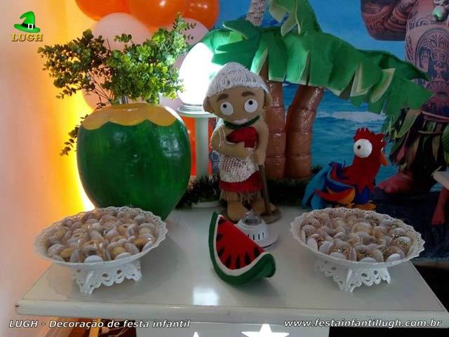 Decoração infantil Moana - Festa de aniversário feminino