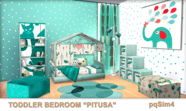 Toddler Bedroom Pitusa Sims 4 Custom Content