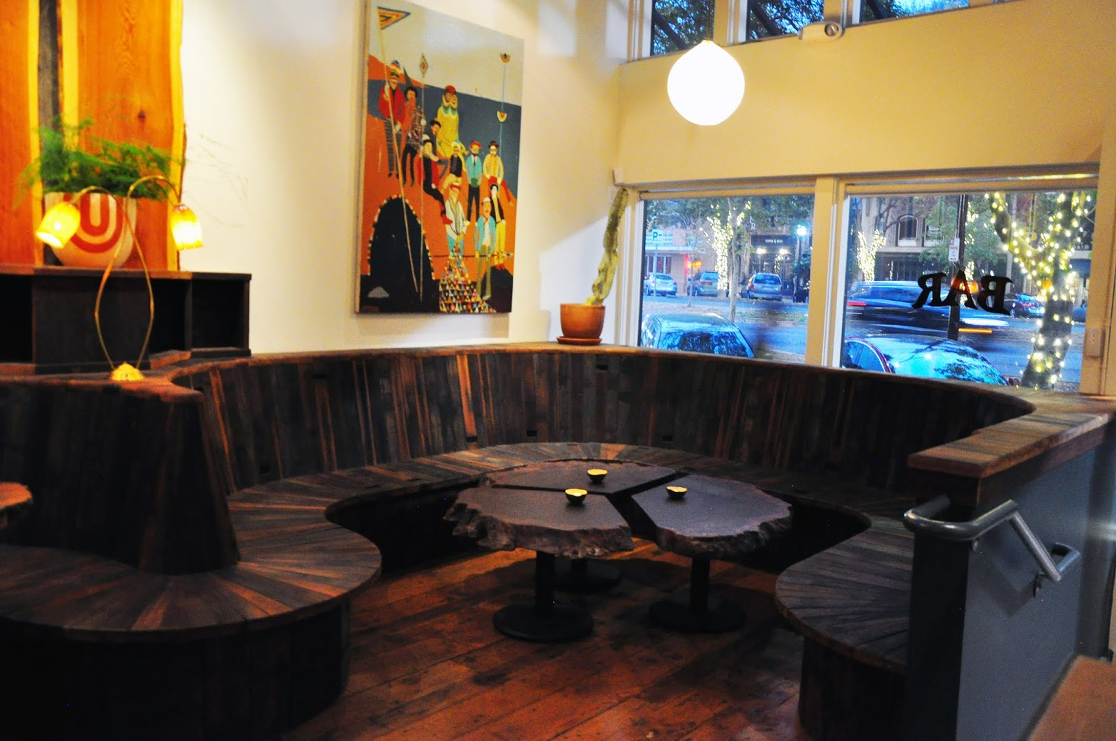 Area At The Corner Office Western Pacific Have Their Own Distinct Characters Different Use Of Reclaimed Redwood And Other Interior Decor Elements