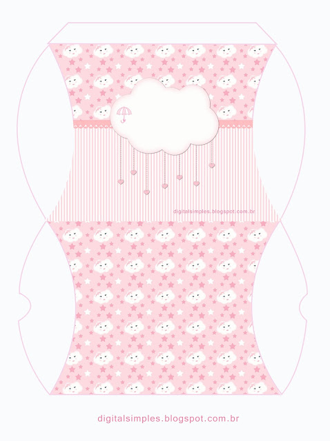 Pink Rain of Blessings or Rain of Love: Free Printable Boxes.