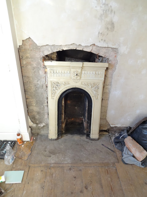 victorian fireplace in chimney