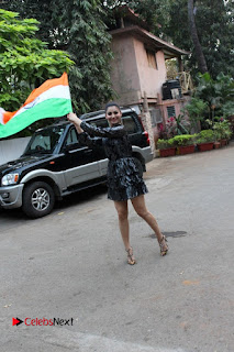 Bollywood Actress Model Urvashi Rautela Stills in Black Dress at Republic Day Celebrations  0010.jpg