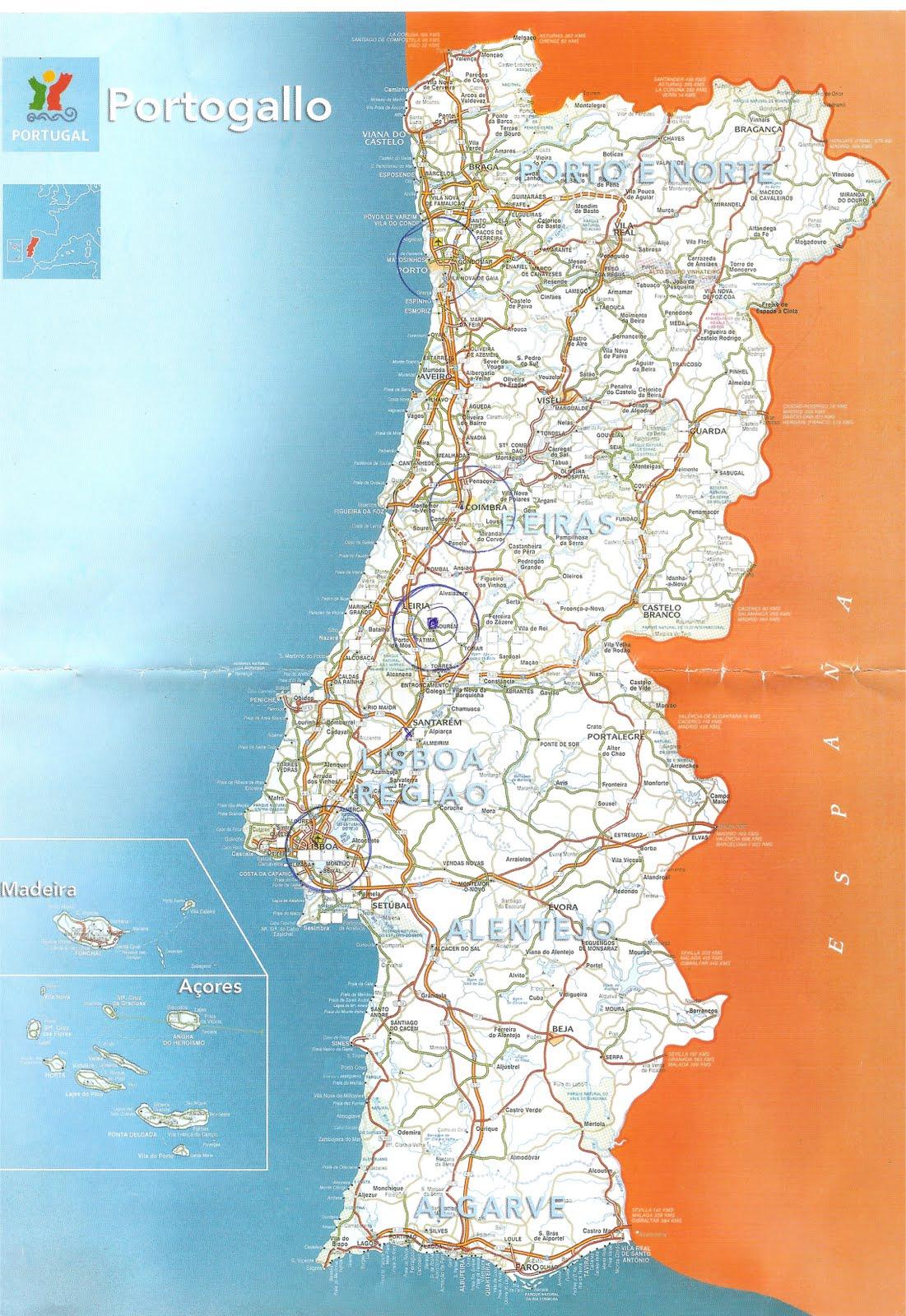 mapa estradas de portugal continental DIÁRIO DE VIAGEM BILÁ BERNARDES: Chegamos em Lisboa mapa estradas de portugal continental