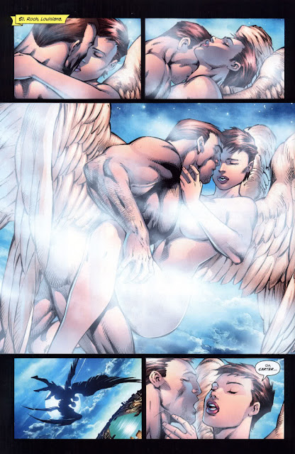Hawkgirl Hawkman sex in the sky