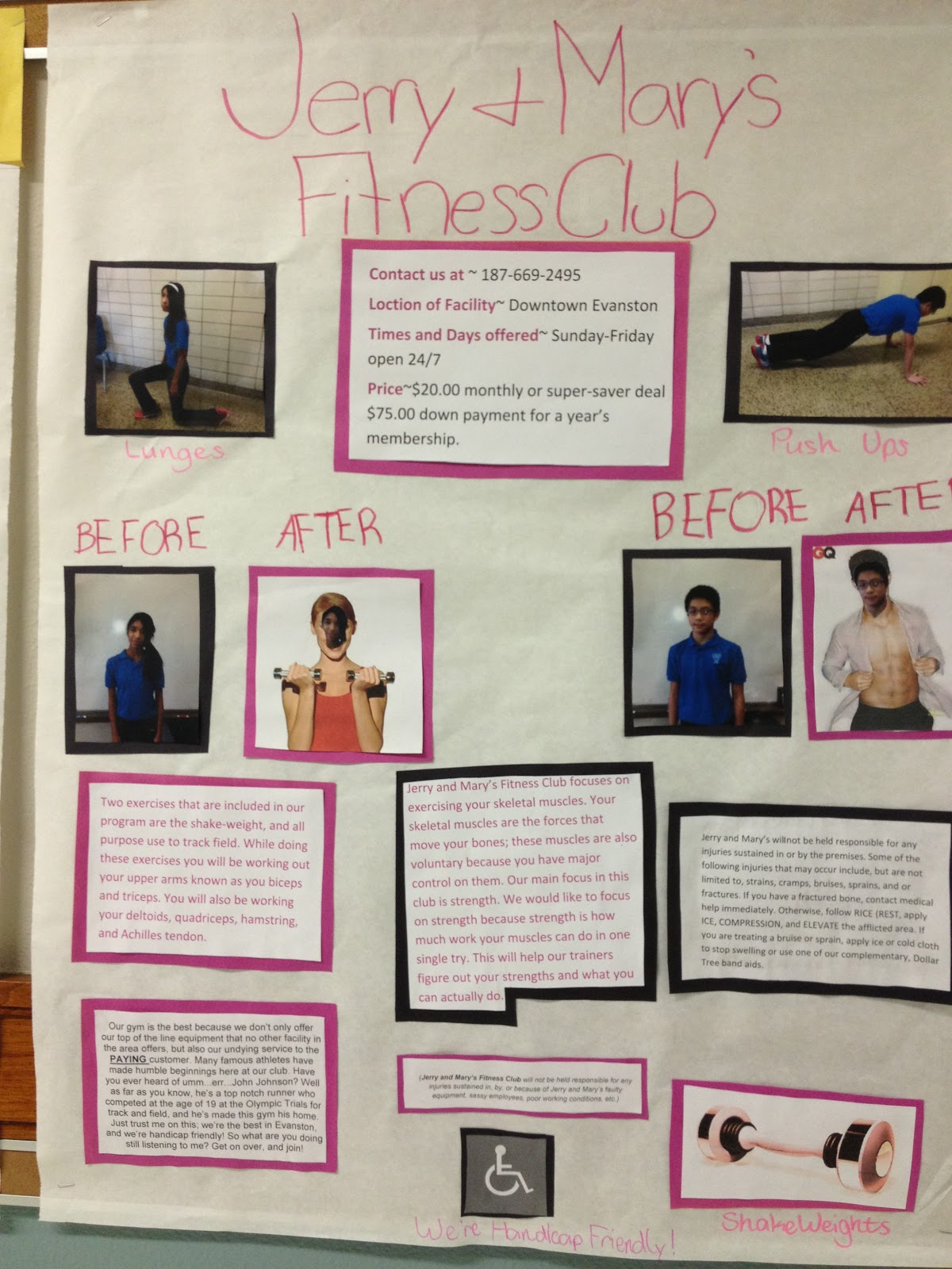 Bits And Pieces Of Middle School Muscular System Project