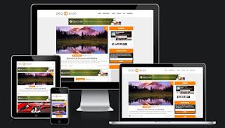 SEO  Blog Blogger template responsive