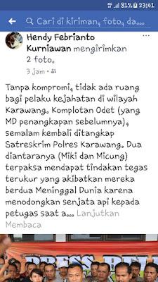 Polres Karawang Diminta Obrak-abrik Kampung Motor Bodong