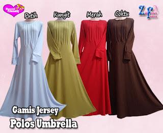 Gamis Model Umbrella Bahan Jersey Polos Terbaru