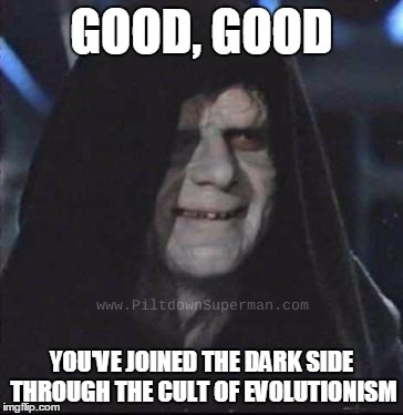 Pseudo-Christian cults have some distinguishing characteristics. Evolutionism exhibits some of the same ones.
