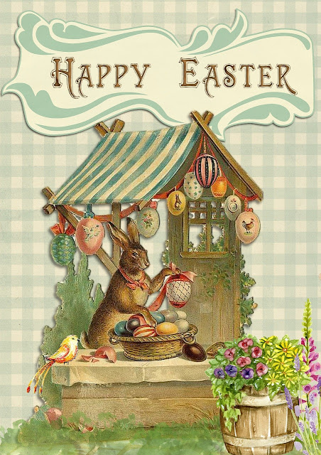 Printable Happy Easter Bunny Card