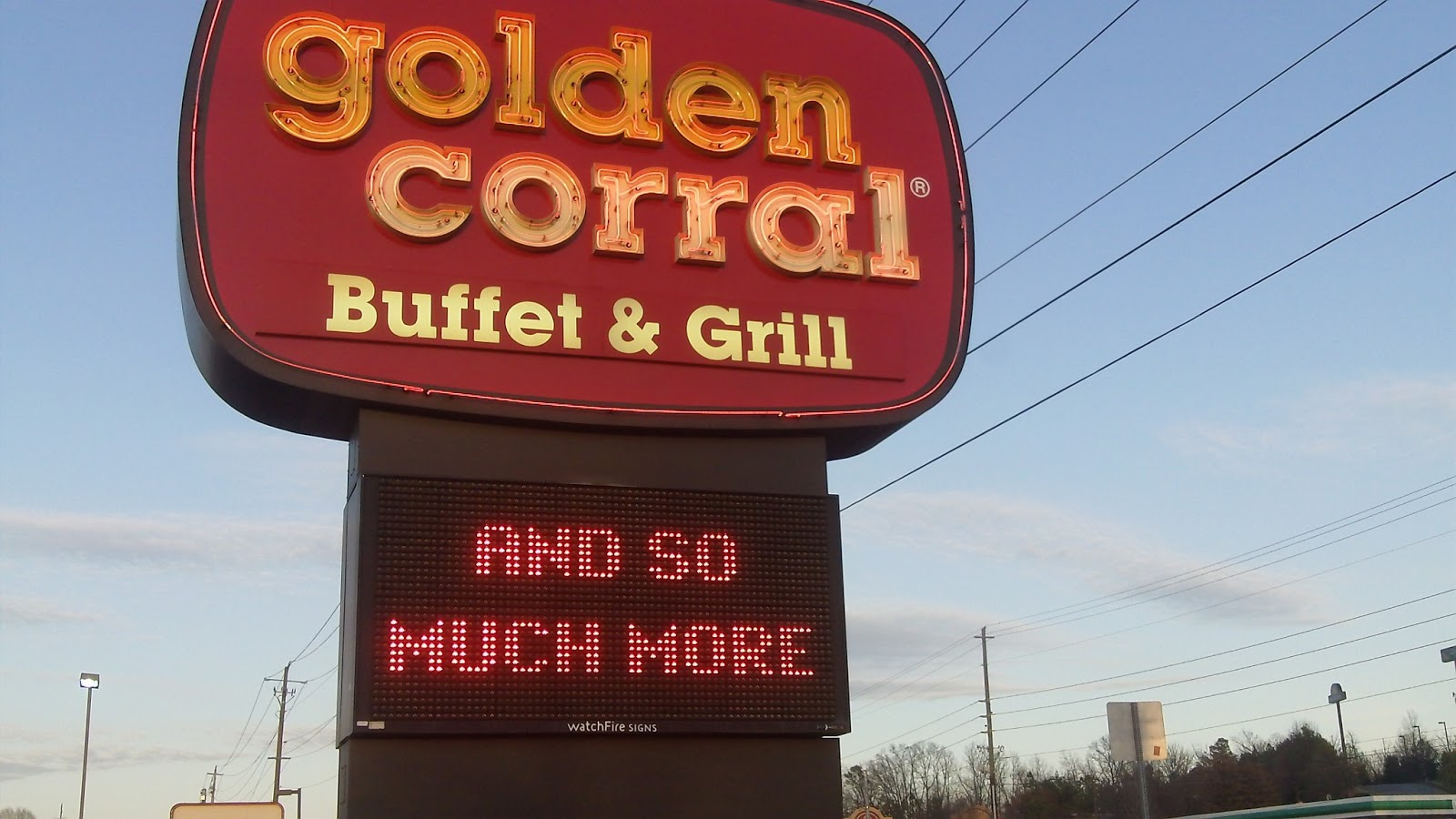 My First Trip To Golden Corral The Internet Is In America
