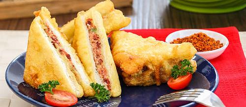 resep membuat sandwich kornet goreng
