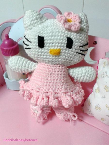 Conhiloslanasybotones: Hello Kitty bailarina amigurumi