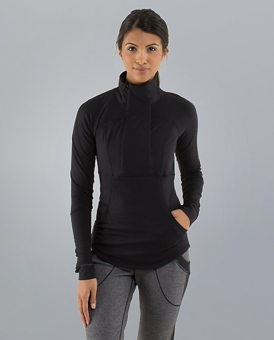 lululemon base runner half zip black