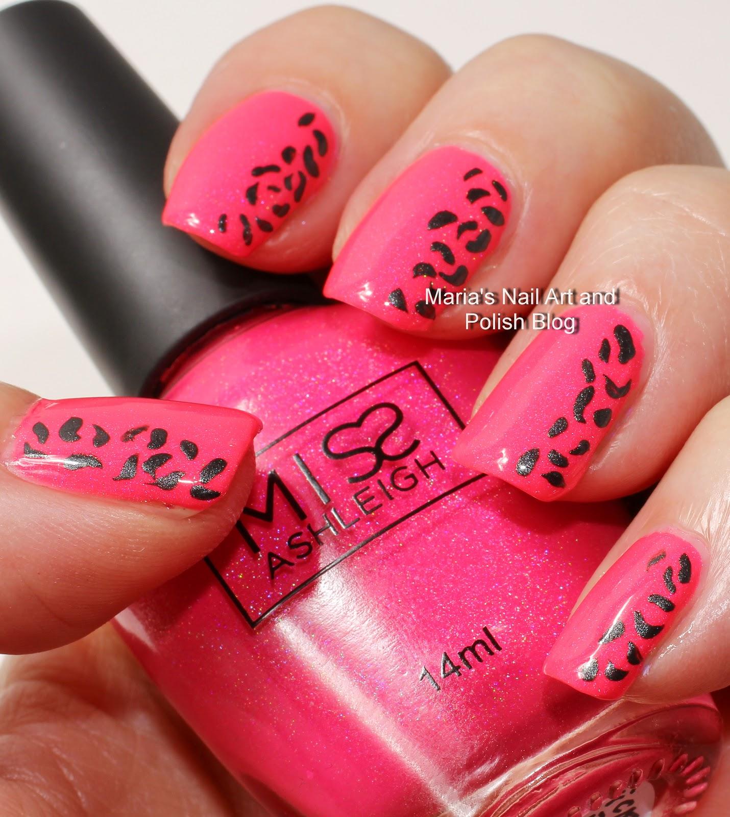 Marias Nail Art And Polish Blog: Simple Leopard Print Nail Art