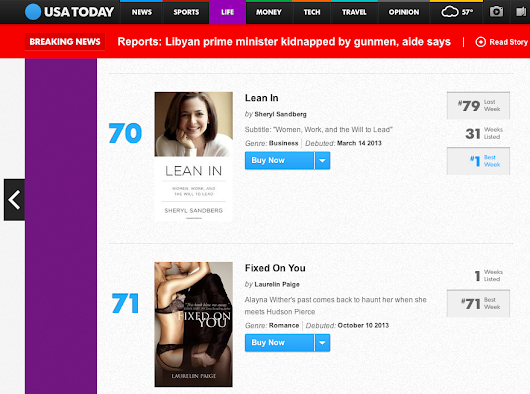 The USA Today Bestseller List & Fan's Choice!