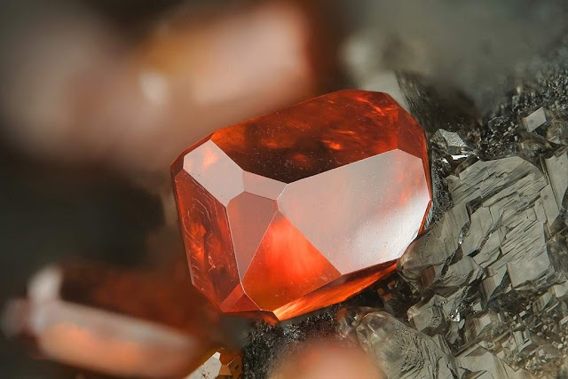Clear Vanadinite Crystal From Arizona