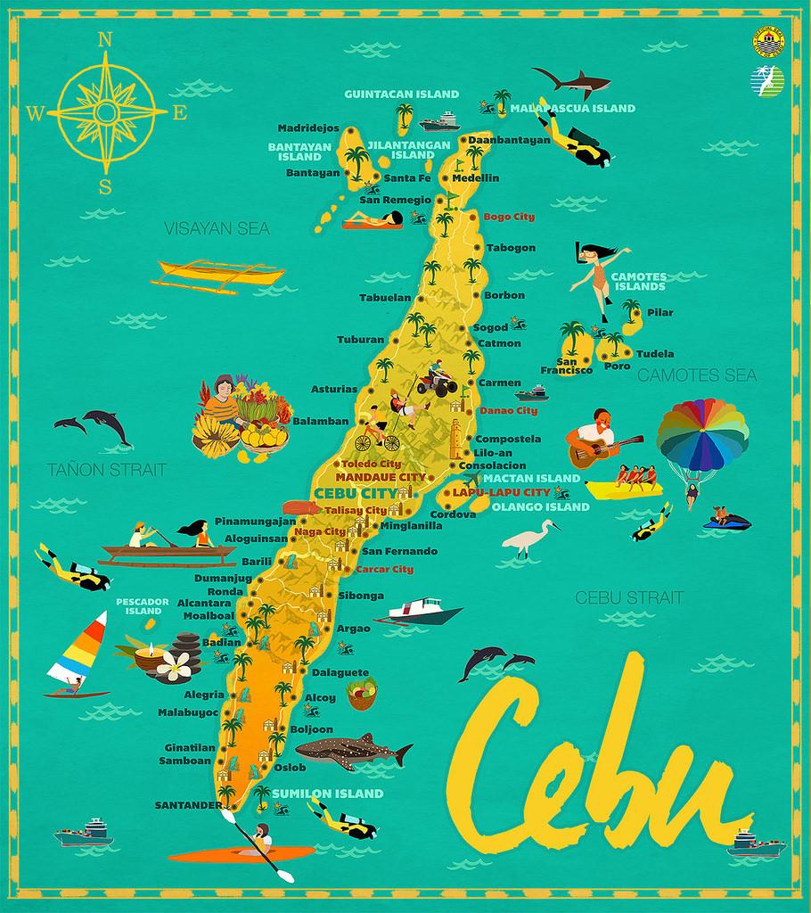 Cebu Travel Tour Guide and Car Rental Cebu Tourist Map Guide