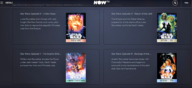 NowTV Star Wars