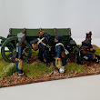 28mm French Artillery Crew with Limber