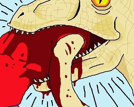 viñetas hechas con paint sobre un velociraptor perdido si lo encuentra llame al siguiente numero, locuracronika.blogspot.com.es benjamin vilella cobal que me pasa en el cerebro