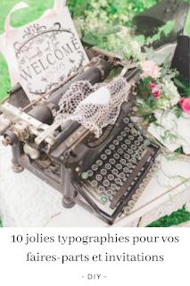 typographies pour faires parts de mariage blog unjourmonprinceviendra26.com