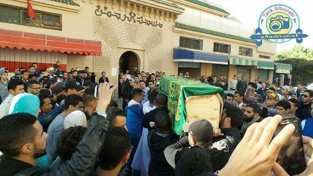 جنازة مهيبة للشاب البرشيدي محمد طاهير
