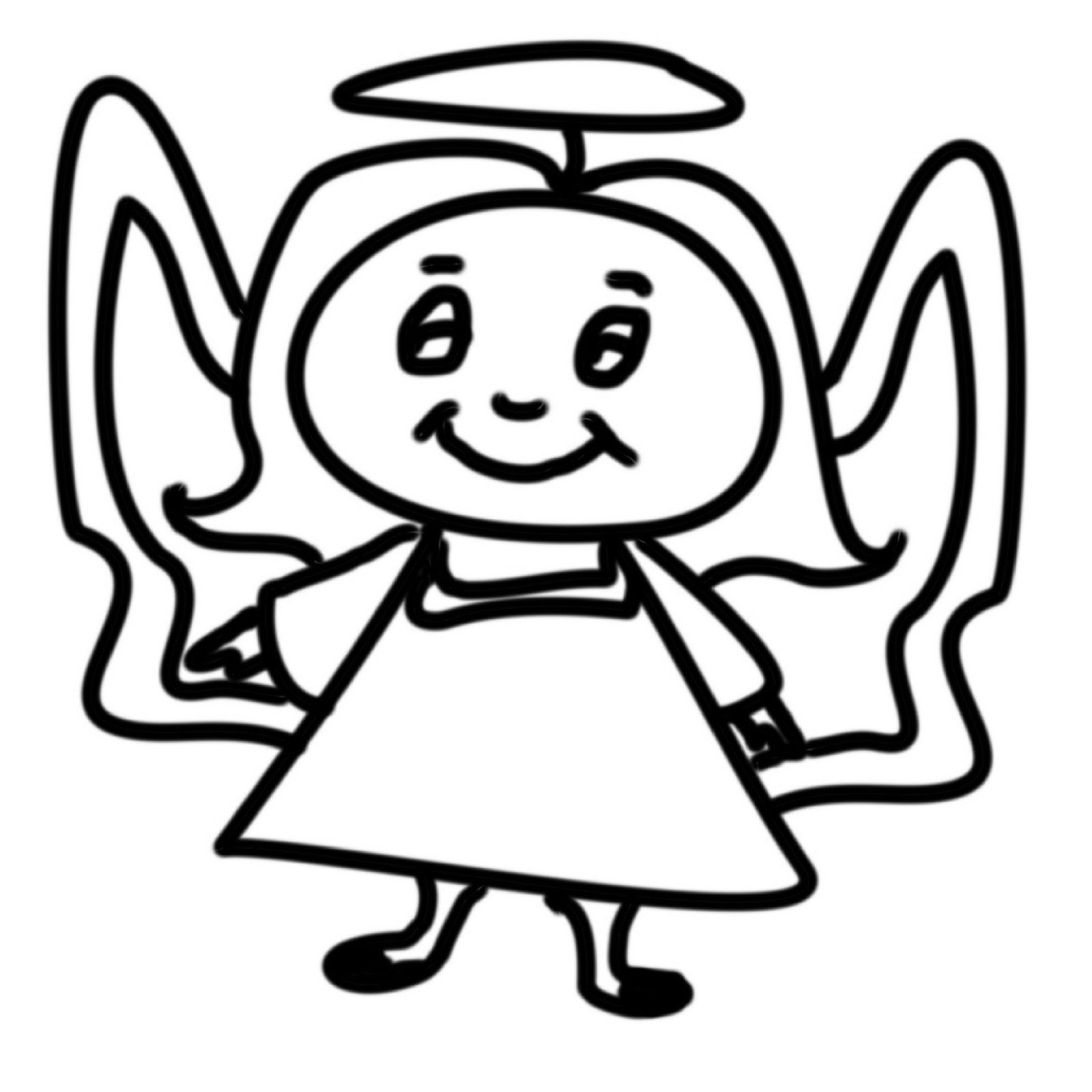 Christian Images In My Treasure Box: Home Drawn Angels