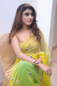 Sony Charista sizzling look in saree-thumbnail-5