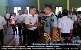 Kepala Lapas Kelas III Warungkiara, Cristio mengatakan, pelaksanaan kegiatan ini dilakukan secara serentak di Seluruh Indonesia.