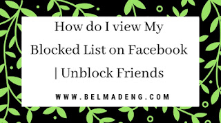 My Facebook Block List