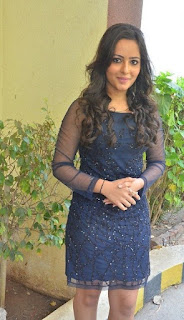 Actress Aanchal Stills in Blue Short Dress at Sei Movie Launch 0012.jpg