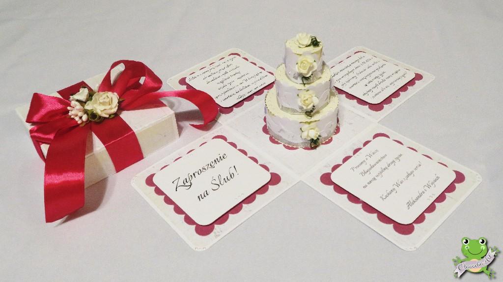 Exploding Box Zaproszenie Dla Rodziców Na ślub Claoodia Art