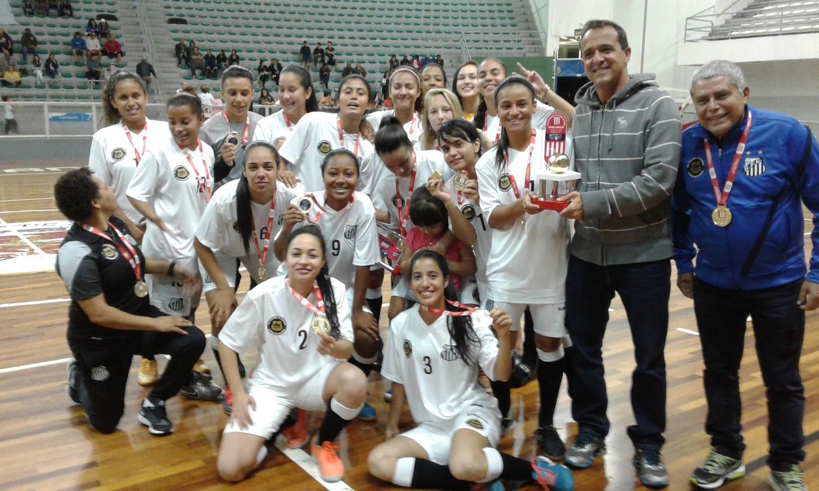 bbec370346 Futsal Feminino - Santos FC FUPES realiza avaliações na Arena Santos