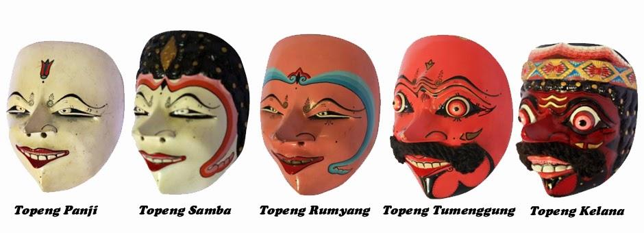 Gambar Topeng Tradisional Sunda Seni Budaya Indonesia Cirebon
