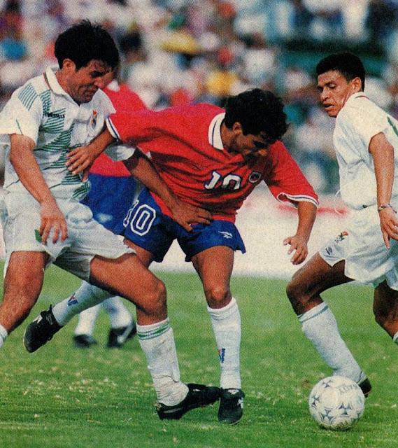 Bolivia y Chile en partido amistoso, 4 de febrero de 1996
